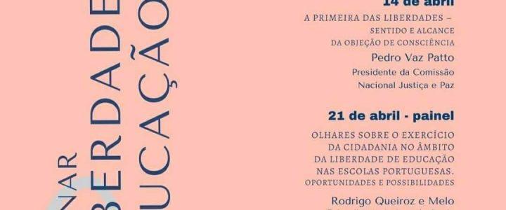 """Webinar """"Liberdade de Educação"""" – 7, 14 e 21 de abril 2021"""